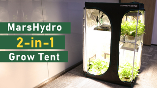 New Release | Mars Hydro 2-in-1 Grow Tent 3 Grow Space