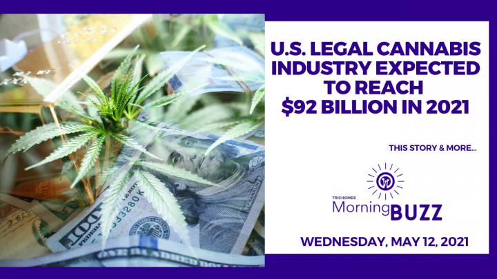 U.S. Legal Cannabis Industry Expected to Reach $92 Billion in 2021   TRICHOMES Morning Buzz
