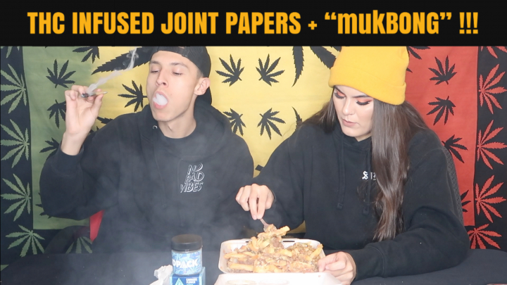 SMOKING WITH THC INFUSED PAPERS & EATING BOMB FOOD!!! |