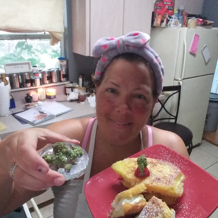 Canna stuffed French toast for Fathers Day
