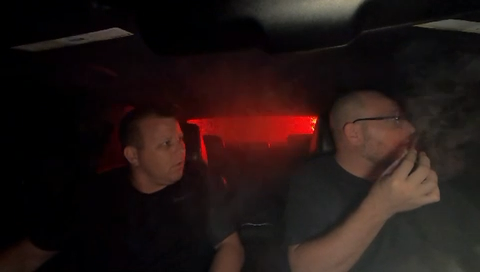 Getting pulled over while smoking a blunt. What would you do?