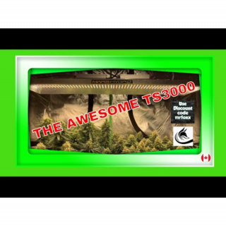My New Mars Hydro Led TS3000 See How Awesome It Is. Growing Marijuana