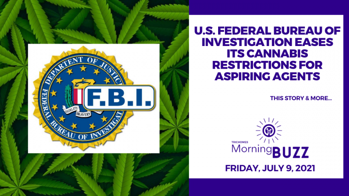 U.S. Federal Bureau of Investigation Eases Its Cannabis Restrictions for Aspiring Agents