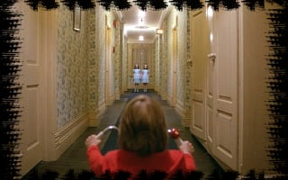 An Overlook (Hotel) of The Hedge Maze at The Haunted Stanley Hotel That inspired The Shining