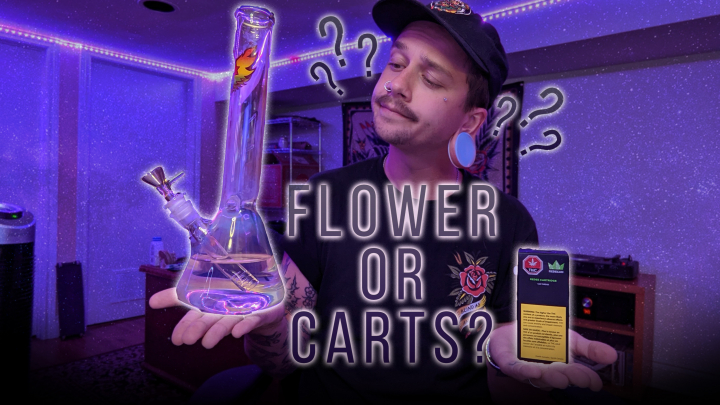 FLOWER or CARTS? - Which is better?? [ Bongrip + Live Terps + Distillate tasting]