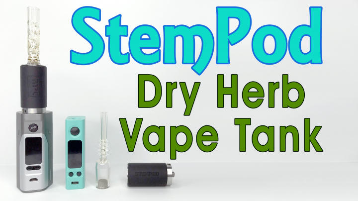 Vaping Weed with 510 Box Mod - Stempod Dry Herb Tank Review