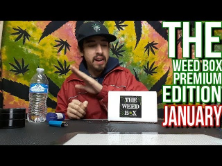 Unboxing January 2019 The Weed Box|| Crystal Vision