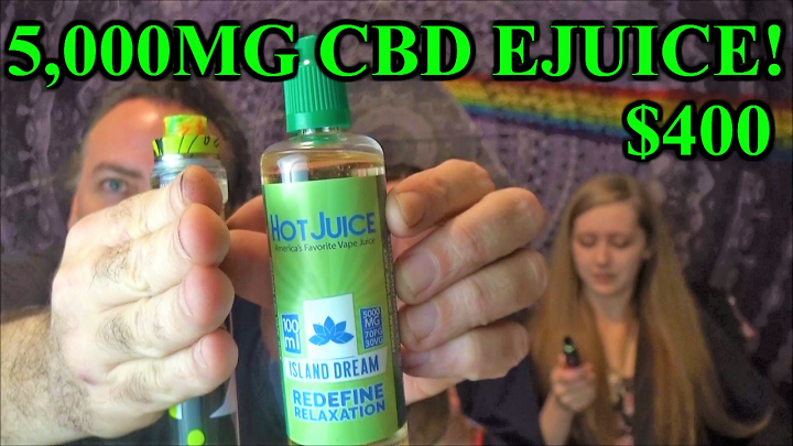 Trying a $400 bottle of 5,000mg CBD Ejuice!!! | IndoorTokers