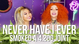 LAGANJA ESTRANJA | Never Have I Ever Smoked a 4.20g Joint (ft. Kimmy Tan) UNCUT