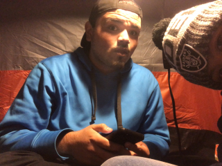 Hot Box Tent / Joint hits with my bestfriend