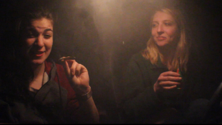 Hotboxing her mom's car