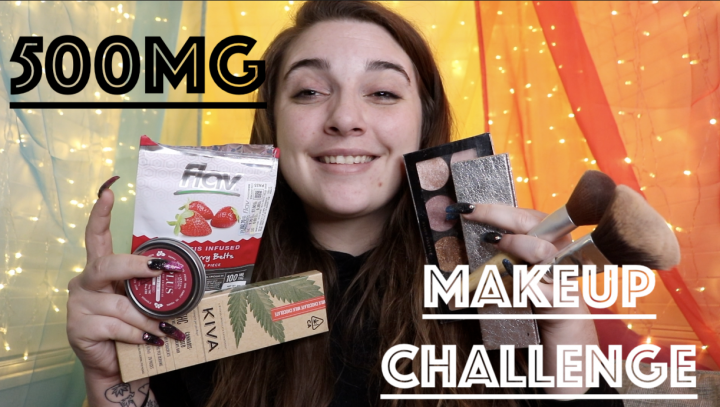 500mg BLACKOUT MAKEUP CHALLENGE!
