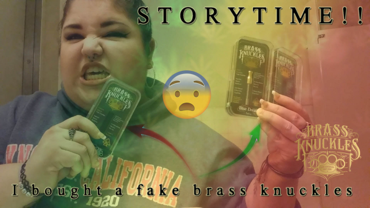 STORYTIME- I bought a fake brass knuckles cartridge!! - TheWeedTube