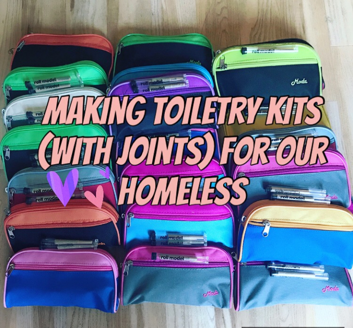 Making toiletry kits WITH JOINTS for our homeless