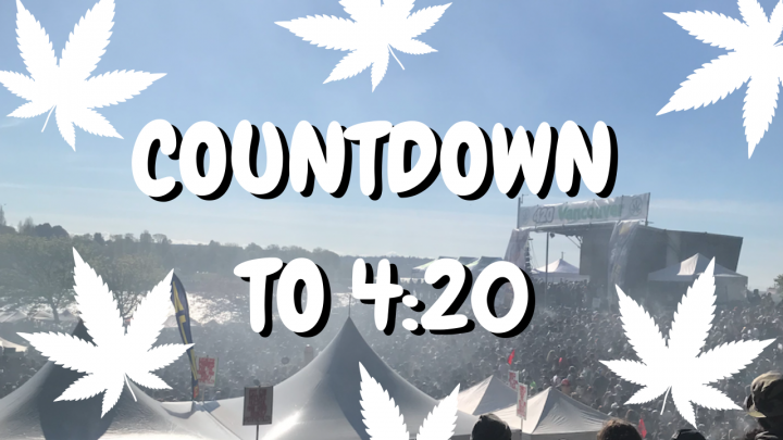 Countdown to 4:20 on 4/20 at Vancouver's Sunset Beach