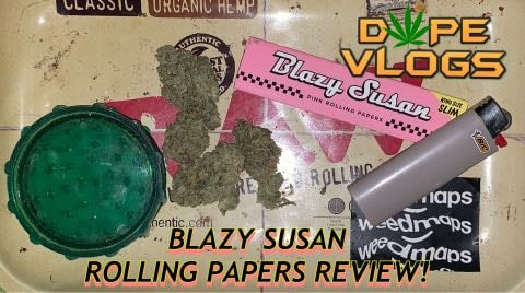 BLAZY SUSAN ROLLING PAPERS REVIEW!! MY 1ST ATTEMPT AT ROLLING A JOINT! DOPEVLOGS