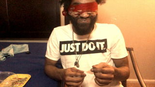 BOYFRIEND ACCEPTS CHALLENGE!! ROLLING A JOINT BLIND FOLDED