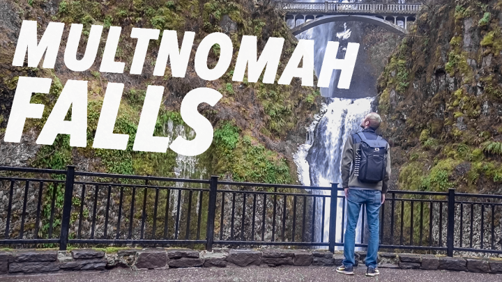 Hiking SKETCHY, ICY Paths at Multnomah Falls ❄️ Portland Day 2