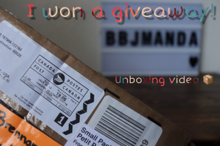 Giveaway unboxing!
