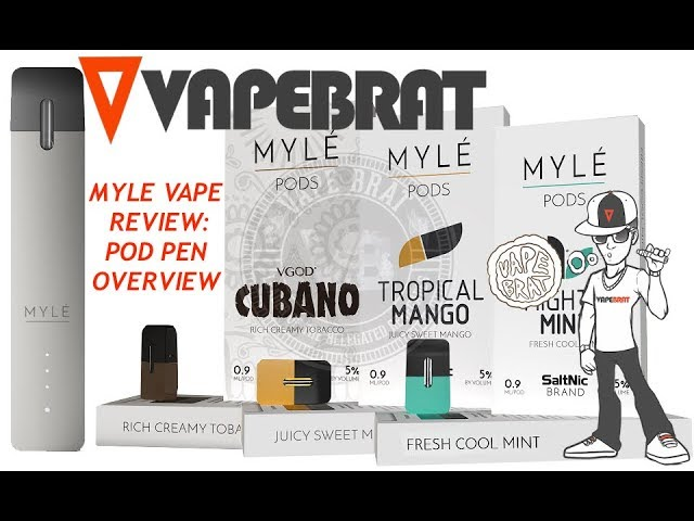 MYLE VAPE PEN: EXTENDED REVIEW & COMPARISON TO JUUL, BO, VONEARL, MANGO PRE-FILLED POD PENS