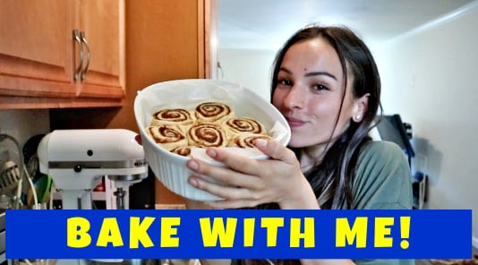 i made CINNAMON ROLLS! (my fav recipe) - Bake With ME!
