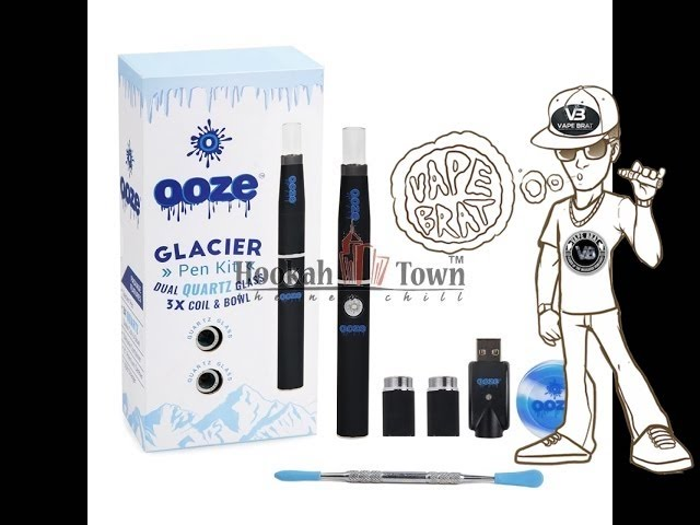 OOZE GLACIER WAX VAPE PEN KIT REVIEW & HOW TO USE, LOAD, TURN ON, CLEAN, Change Coil