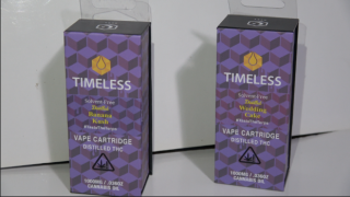 Timeless Cartridge Strain Review (Banana Kush & Wedding Cake)