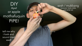 DIY Apple Pipe/ Smoke sesh/ 1 bite mukbang