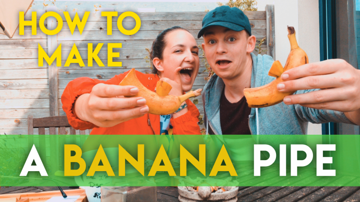 How to make a PIPE with a BANANA / Feat. Selena  - Fr (ENG SUB)