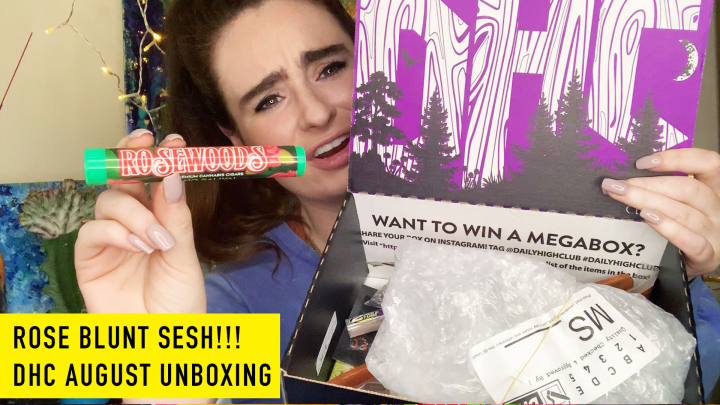 ROSE BLUNT SESH! Unboxing Daily High Club's August Box!
