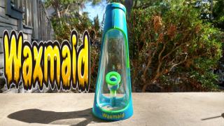 WAXMAID HORN SILICONE AND GLASS HYBRID WATER PIPE REVIEW
