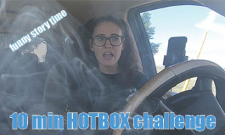 10 minute HOTBOX CHALLENGE // funny story time