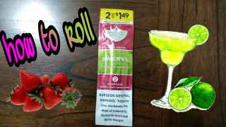 how to roll Swisher sweets limited edition swerve strawberry margarita blunts
