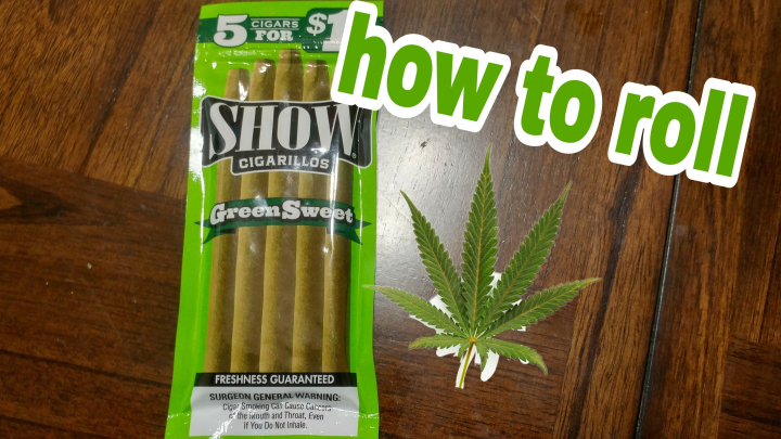 how to roll show Green sweets cigarillo blunt