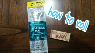 how to roll Swisher sweet tropical ice Blunts with a filter