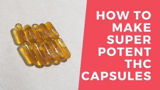 How to make SUPER POTENT THC Capsules using shatter