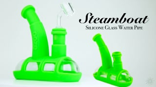 Brand New Steamboat Silicone Glass Water Pipe #oozelife