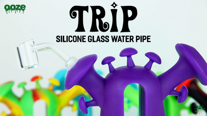 New Ooze Trip Silicone Glass Water Pipe (BRAND NEW PRODUCT!)