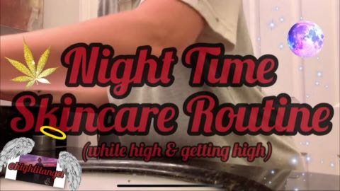NIGHT SKINCARE ROUTINE / high & getting high