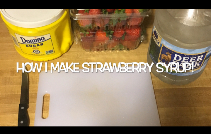 Strawberry Syrup: How I Make It