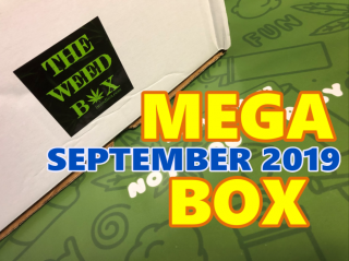 The Weed Box MEGA BOX September 2019 Unboxing