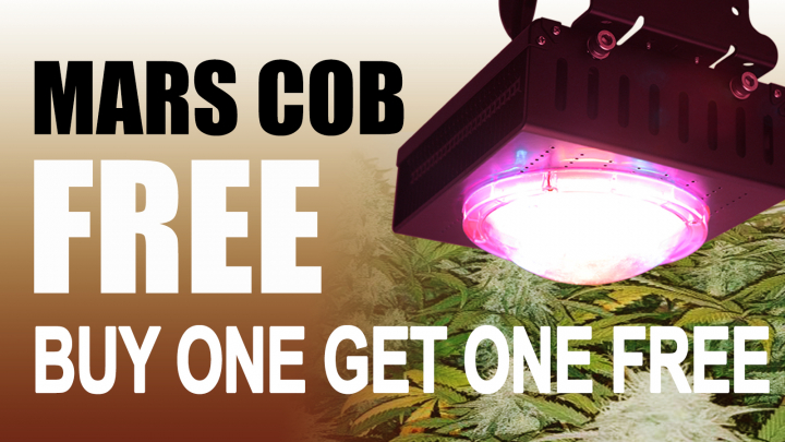 FREE Mars Hydro COB--Buy one get one FREE! Limited time and stock!