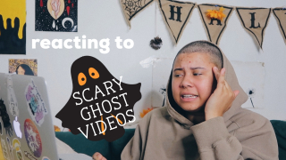 Reacting to SCARY GHOST Videos STONED !!