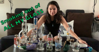 Smoking from all my GLASS | GOT SUPER HIGH