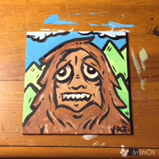 JONEZYARTWORK BIGFOOT PAINTING WEEDTUBE