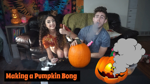 Making a Pumpkin Bong|Bakedbeauty420