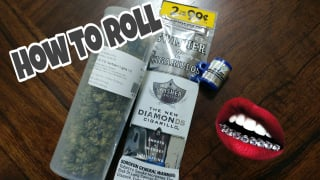 how to roll Swisher sweet unsweet diamond cigarillos blunt
