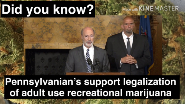 PENNSYLVANIA GOVERNOR CALLS FOR ADULT USE RECREATIONAL LEGALIZATION