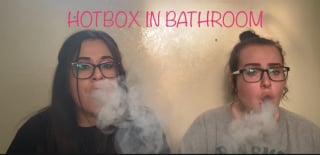 HOTBOX IN INGRIDS BATHROOM!!