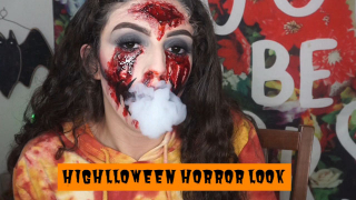 Highlloween Horror Makeup sesh | Bakedbeauty420